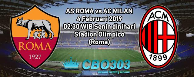 Prediksi Tepat AS Roma vs AC Milan (4 Februari 2019)