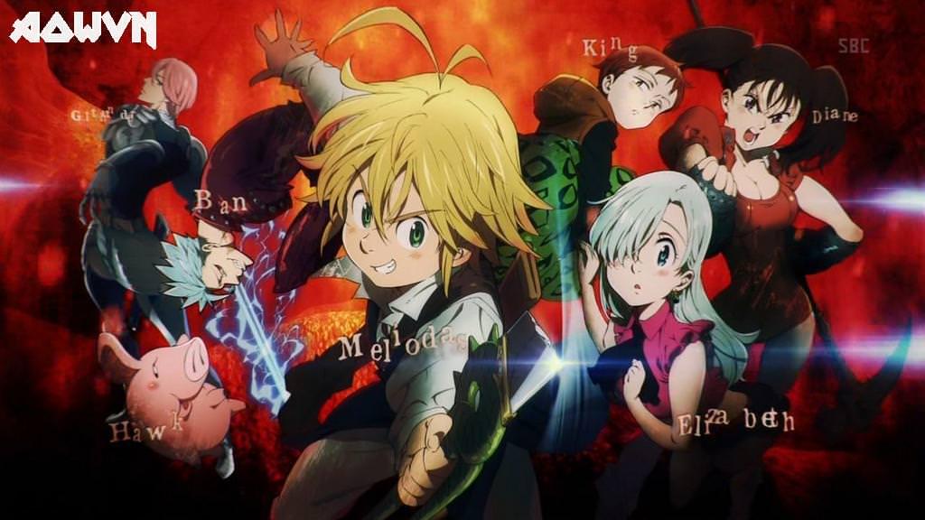 Nanatsu%2Bno%2Btaizai%2B %2BAowVN%2B%25282%2529 - [ Anime 3gp Mp4 ] Nanatsu No Taizai SS2 | Vietsub - Siêu Phẩm Trở Lại