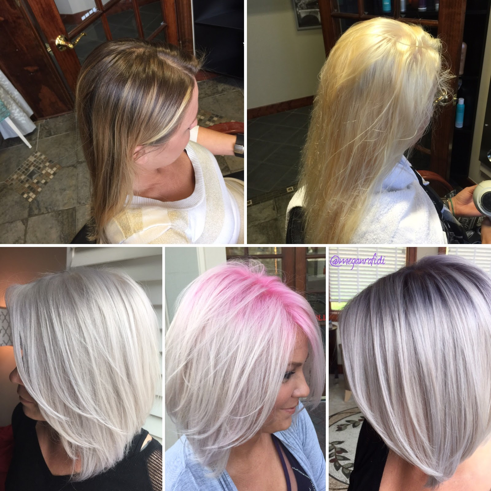 My Inner Hairstylist How To Platinum Pink Shadow Root To