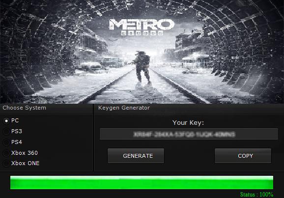 metro exodus pc license key