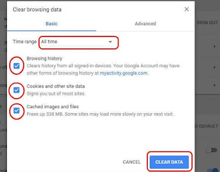 how to clear data on chrome browser