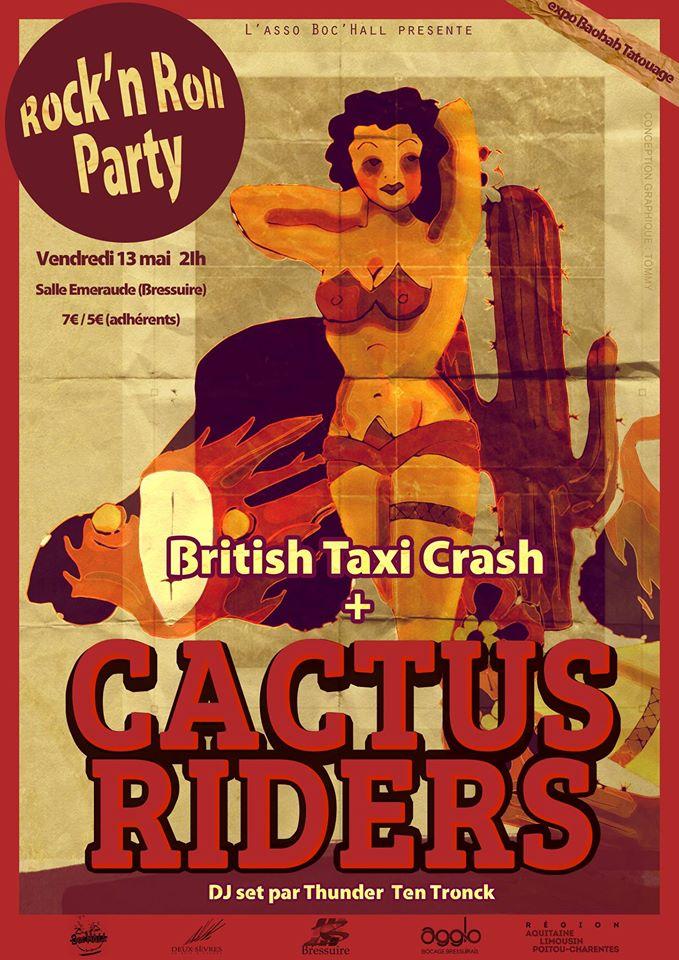 affiche de rock'n roll party
