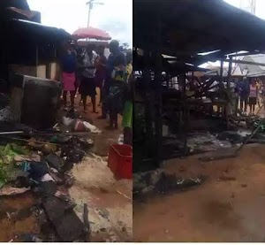 Gas explosion kills lady, 4 kids in Delta State (Photos)