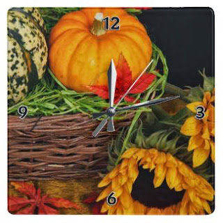 Time for Pumpkins, Sunflowers and Wall Clocks