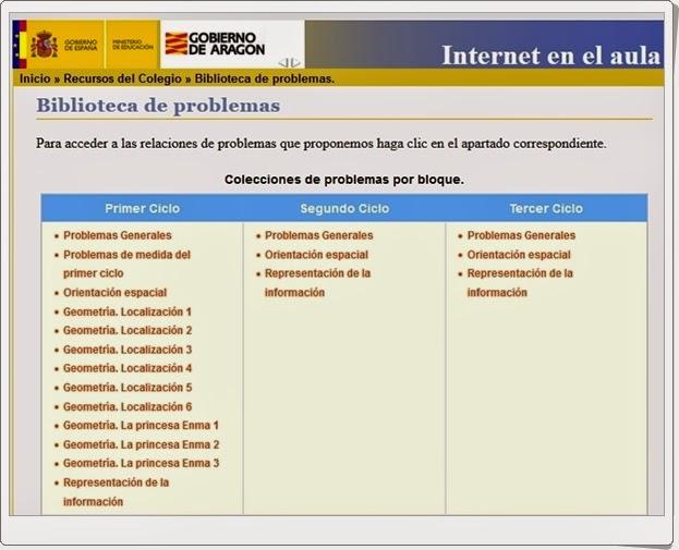 """""""Biblioteca de problemas de Educación Primaria"""""""