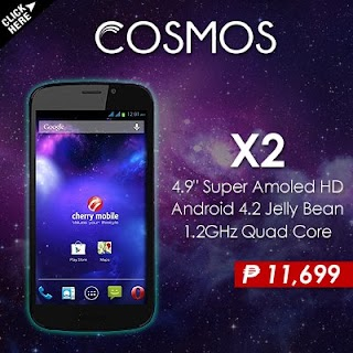 Cherry Mobile newest Cosmos X2 Super AMOLED smartphone, price at 11699