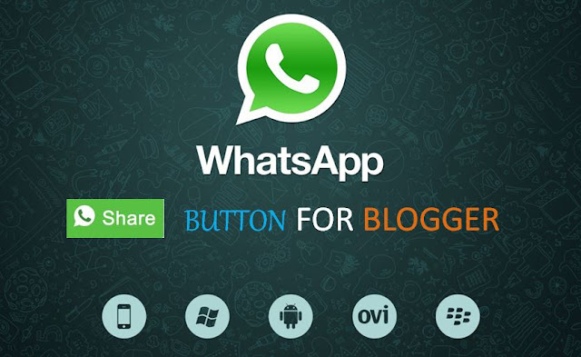 Whatsapp share button blogger, whatsapp share button for website