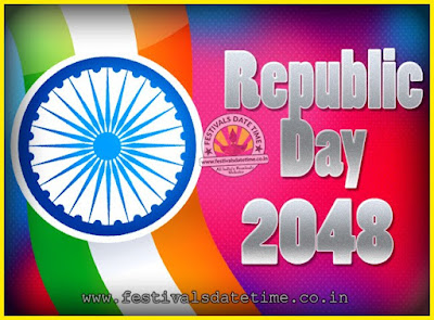 2048 Republic Day of India Date, 2048 Republic Day Calendar