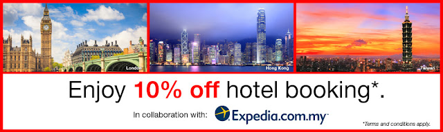 CIMB 10% Off Expedia Discount Voucher Code
