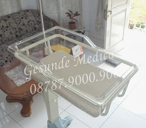 jual overbed baby bassinet acare