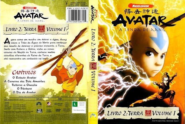 Capa DVD AVATAR A LENDA DE AANG LIVRO 2: TERRA VOLUME 1