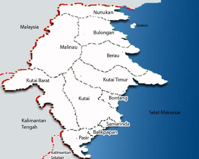 Gambar Peta Kalimantan Utara lengkap