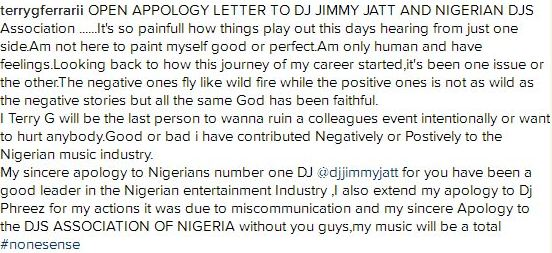 Terry G Apologize After Slapping Dj Jimmy Jatt's Protege