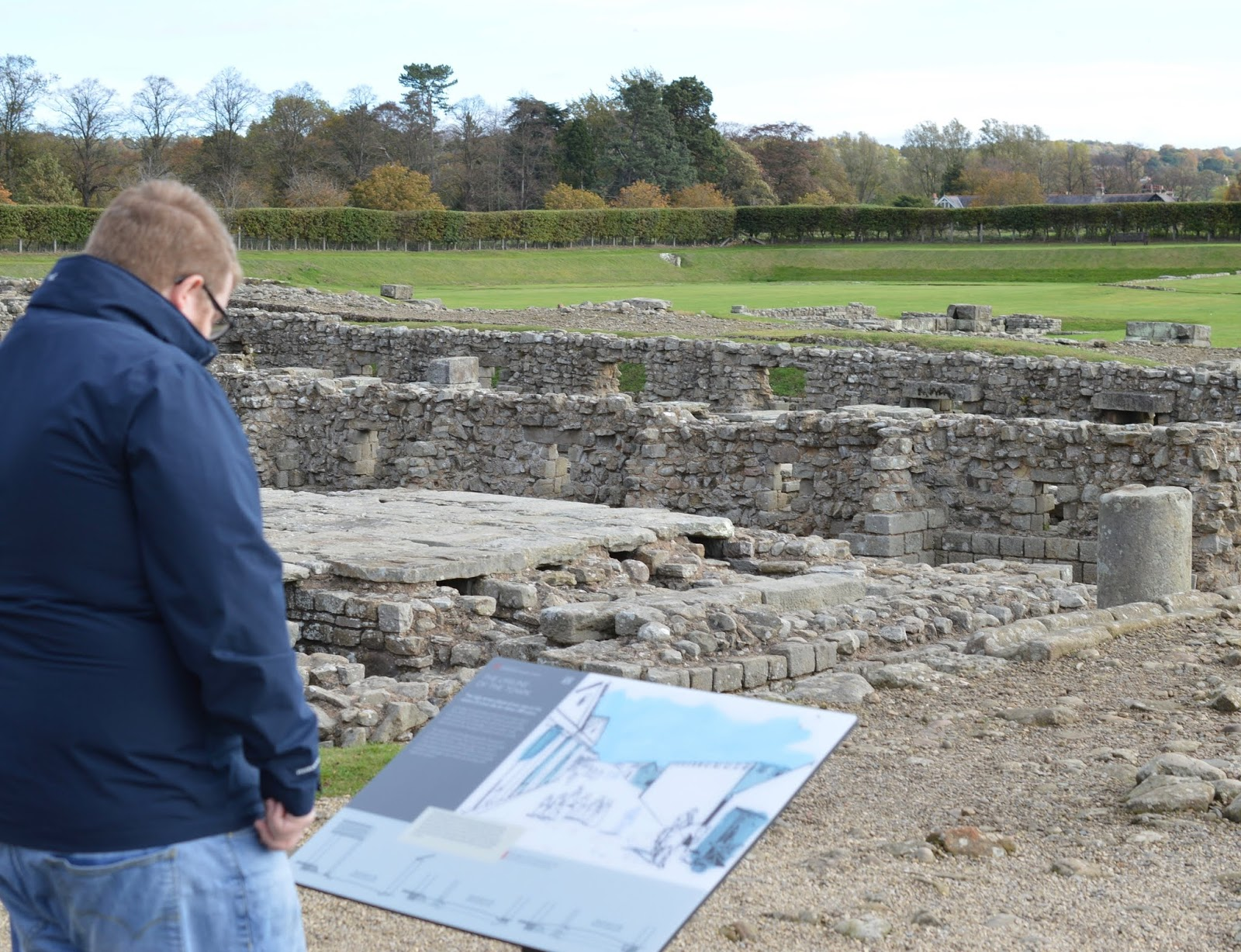 A lovely pub lunch & a trip to Corbridge Roman Town with kids - information signs