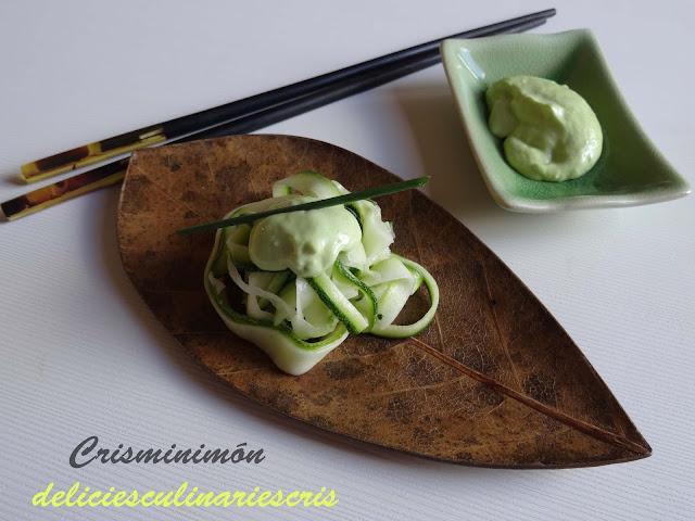 Noodels de calabacín encurtido - Delicies culinaries Cris