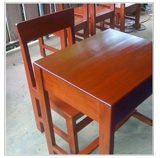 meja kursi siswa kayu jati