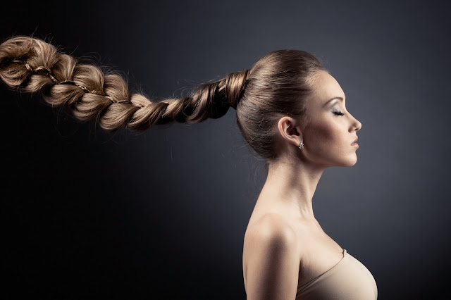 Woman With Long, Beautiful Braid