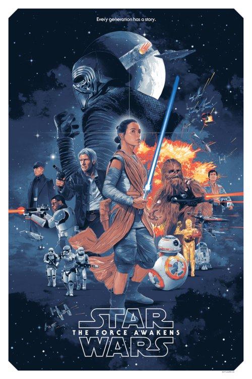 Grzegorz Domaradzki ilustrações cartazes pôsteres filmes arte cinema Star Wars: Episode VII - The Force Awakens (Star Wars: O Despertar da Força)