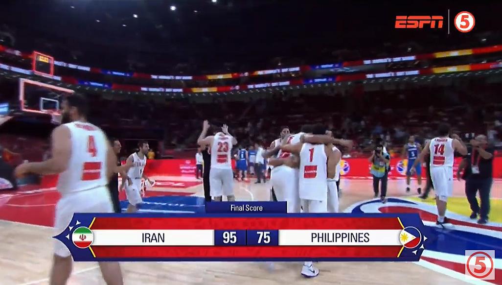 Iran def. Gilas Pilipinas, 95-75 (REPLAY VIDEO) FIBA World Cup 2019