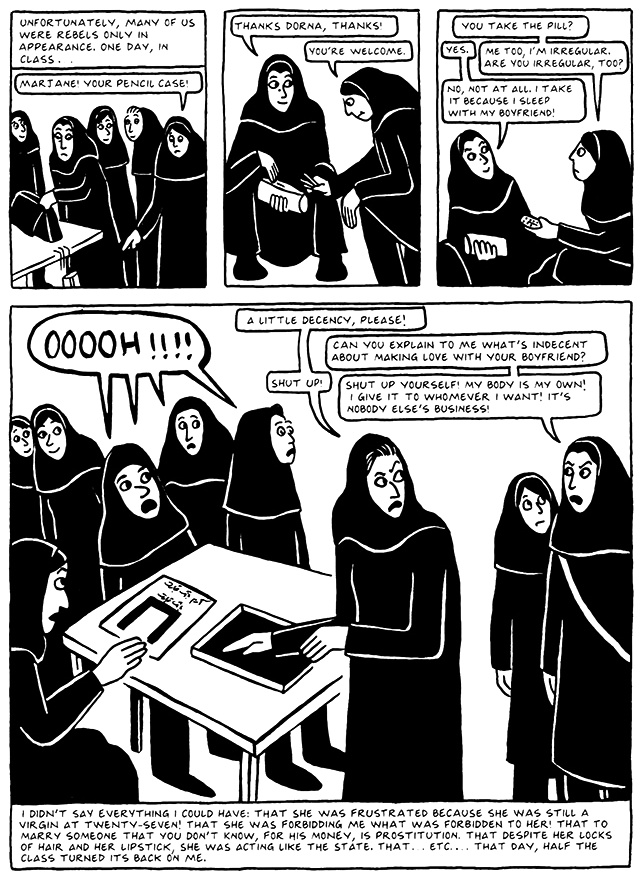 Read Chapter 16 - The Socks, page 149, from Marjane Satrapi's Persepolis 2 - The Story of a Return