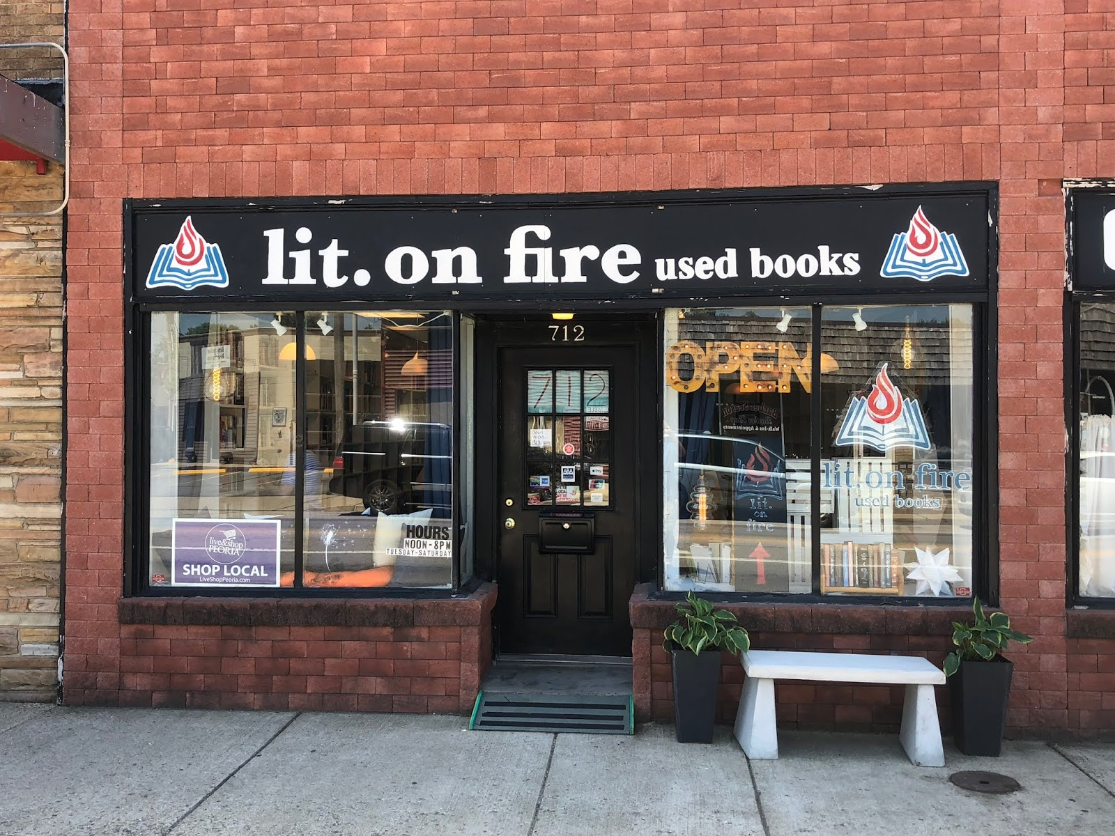 The Indie Bob Spot Lit On Fire Used Books Peoria Il