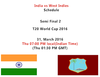 India vs West Indies logo and schedule