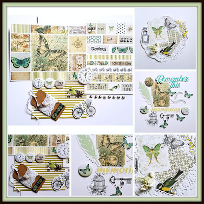 Funky Flair Studio - August DT Reveal Showcasing New Release Olive Grove Kit
