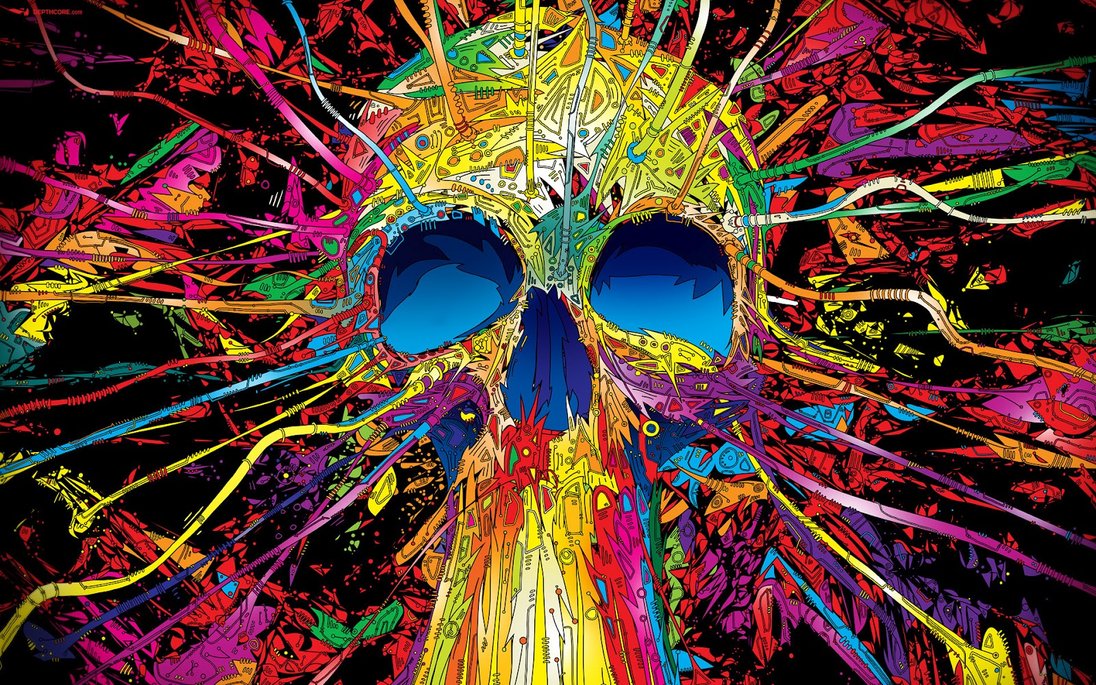 Colorful Skull Amazing HD 3D Wallpapers 3D Backgrounds - photo#20