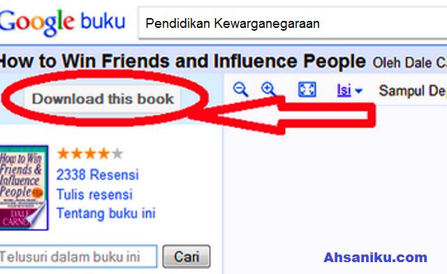 Cara Buku Di Google Book Secara Lengkap