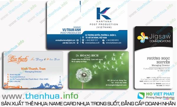  Sản xuất in thẻ nhựa trong suốt nhanh trong ngày  giá rẻ, uy tín hàng đầu