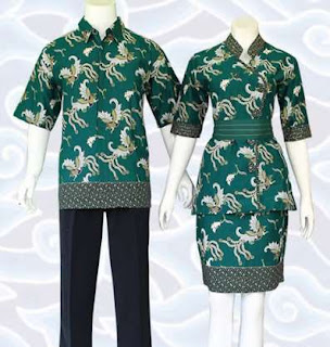 baju batik kerja untuk pasangan
