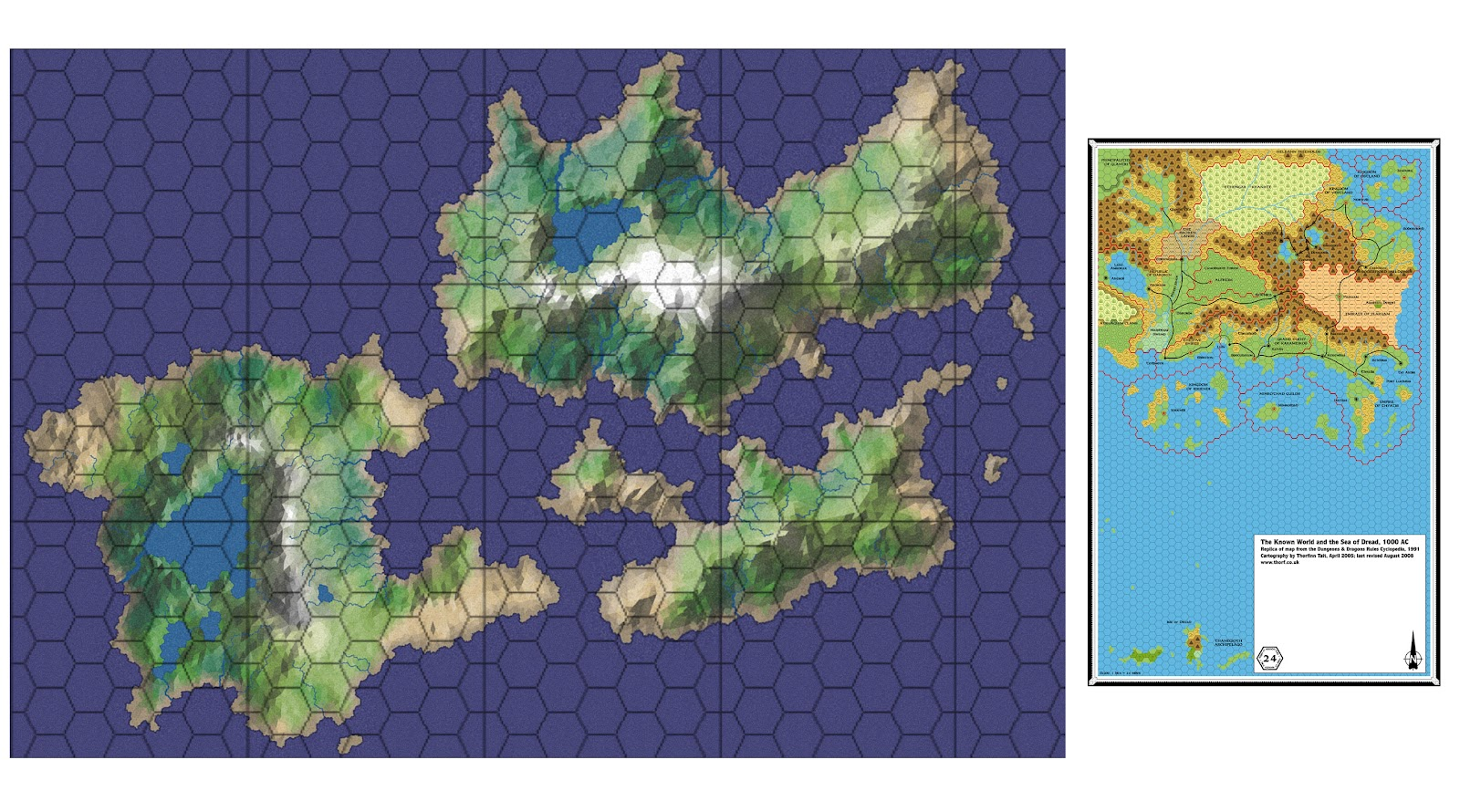 Kingdoms in Trevail: Map Scaling or How Big Is This Place?