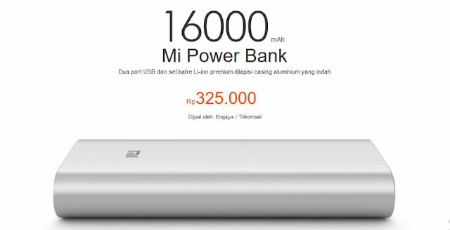 Power bank terbaik dan terkuat - Xiaomi Power Bank 16000 mAh