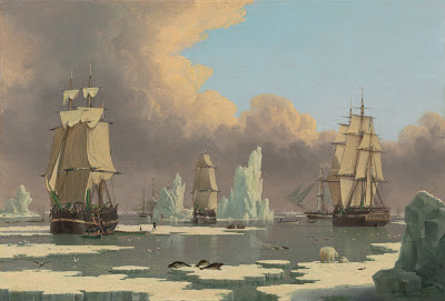 Painting of the Northern Whale Fishery by John Ward of Hull from the National Gallery of Art