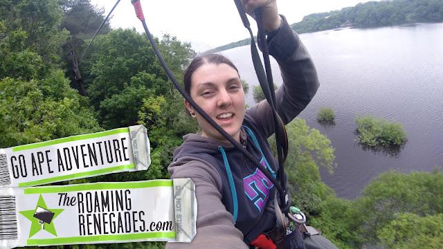 Go ape, rivington, zipline, zip line, adventure, explore, high, outdoors, roaming renegades, wedding, anniversary, adrenaline, go pro