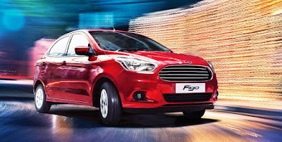 New Ford Figo 2016 red car hd image