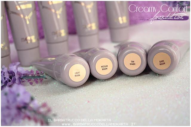 warm creamy confort foundation Fondotinta Neve Cosmetics