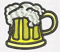 jarra de cerveza para bordar