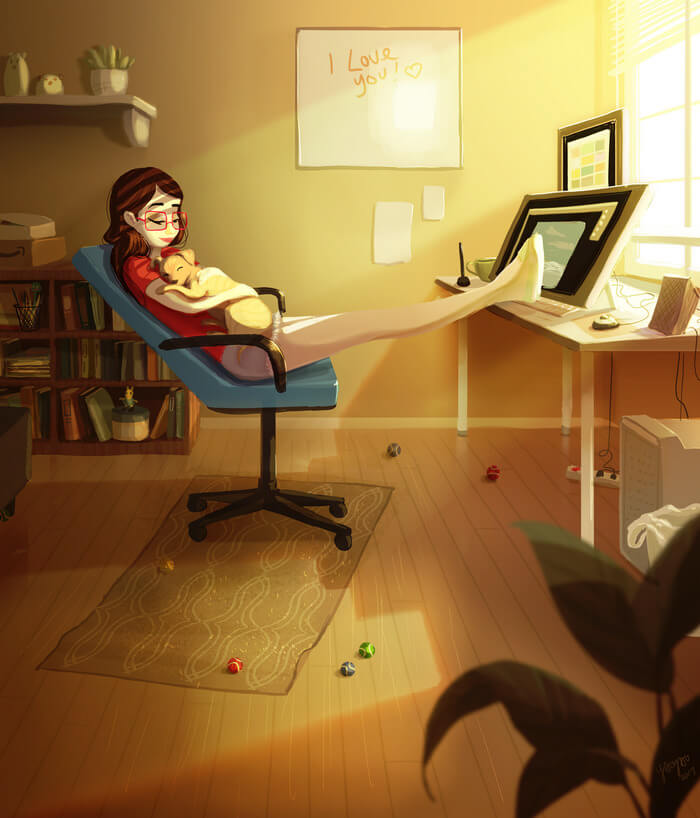 Mind-Blowing Illustrations Capture The Joy And Independence Of Living Alone