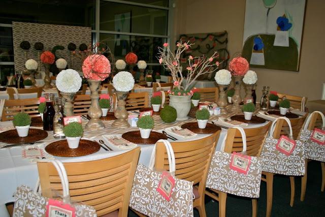 fleur décoration table