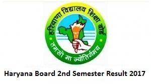Haryana Board 2nd Semester Result