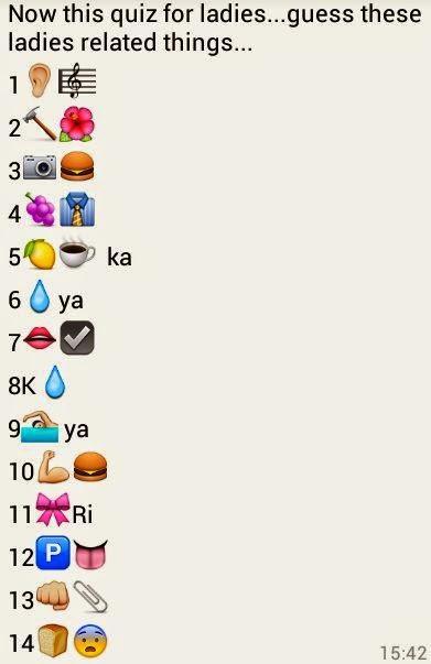 Guess These Ladies Related Things Whatsapp Emoji Quiz
