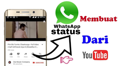 Cara Upload Video YouTube ke Status WhatsApp dengan mudah