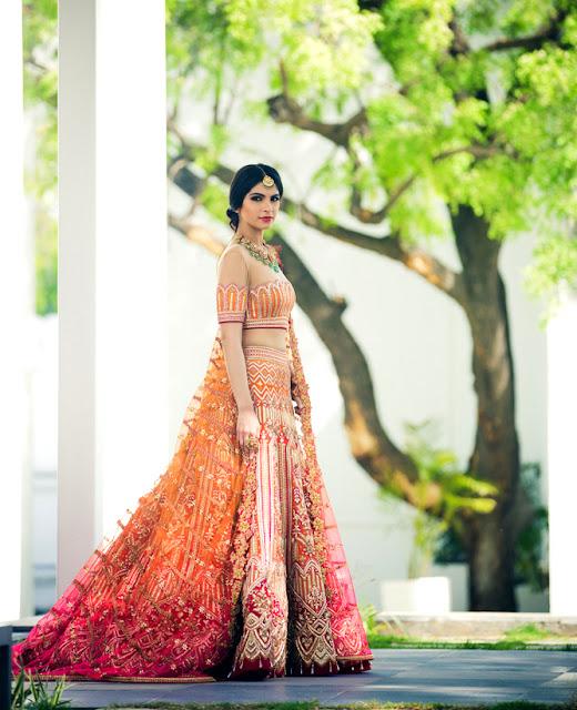 Saffron Stunner Heavy Designer Lehenga