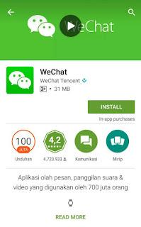 Cara mendaftar Wechat