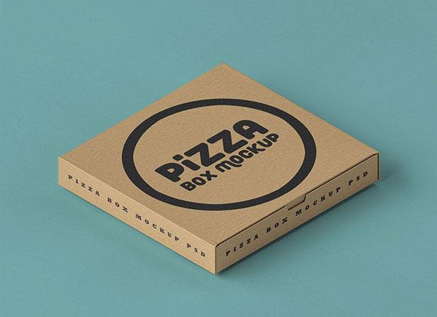 Gratis Mockup Packaging/Kemasan PSD 2018 - Corrugated Pizza Box Packaging Mockup PSD
