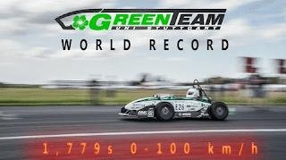 Ditulis dari laman Daily Mail kemarin, mobil listrik Green Team E0711-5 ini lebih cepat 0, 006 dtk dibanding mobil paling cepat yang ada pada awal mulanya