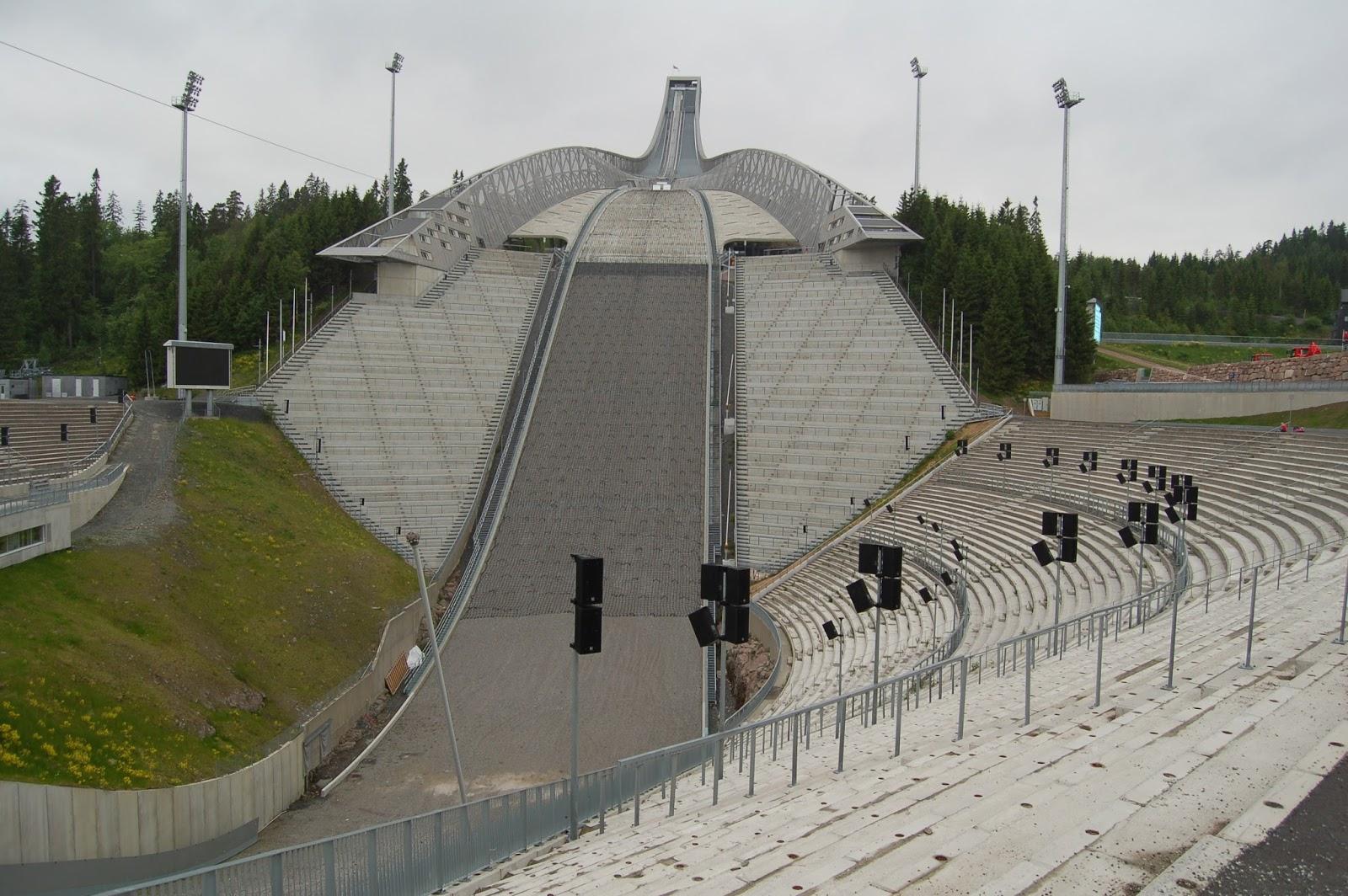Wokół Igrzysk Olimpijskich : Gdzie ćwiczą Norweżki i Norwegowie? HOLMENKOLLEN Oslo