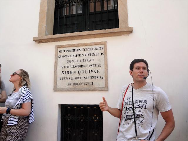 シモン・ボリバルが暗殺から逃れた窓の紹介