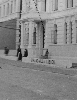 Ausschnitt - Strand-Villa Lübben - Borkum - um 1900